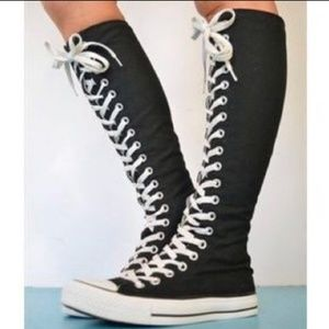 Converse Knee High Sneakers Size 8